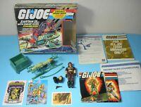 1984 GI Joe Cobra Dreadnok Zartan & Swamp Skier Complete in Box w/ Blueprints