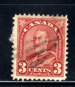 1930-31 Canada 3c Red Stamp  Scott #167 A59 Canc/VLH