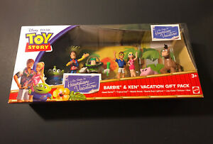 Mattel Disney Pixar Toy Story Barbie & Ken Gift Pack Hawaiian Vacation - Rare