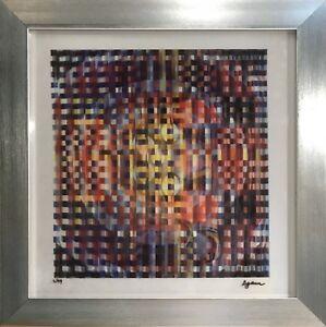 Untitled Original Yaacov Agam (Framed Abstract Contemporary Art Mixed Media)