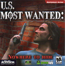 U.S. MOST WANTED Nowhere to Hide Strategy Shooter for Windows PC Game NEW XP
