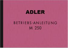 Adler M 250 m250 Moto Manuale d'uso manuale di istruzioni manuale manual