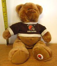 CLEVELAND BROWNS teddy bear NFL football doll w/ sweatshirt Helmet logo