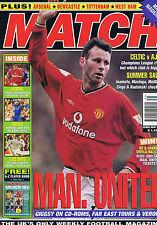 RYAN GIGGS MAN UTD / LEEDS / CELTIC / AJAX / LIVERPOOL Match Aug 4 2001
