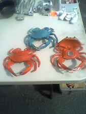(3)-Blue Orange crab,door knocker,cigar snuffer,crab mallet or candle holder