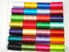 30x Bobines de machine à coudre fils à broder en soie art,30
