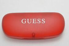 GUESS SUNGLASSES RED PLASTIC MAGNETIC HINGED HARD CASE