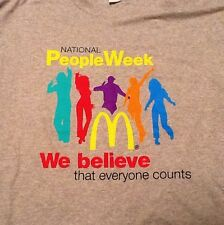 McDonald's National People Week 2011 Limited Promotional XL T Shirt Gray Unworn