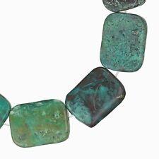 "10 Natural Azurite Flat Rectangle Beads 15x20mm 8"" #57038"
