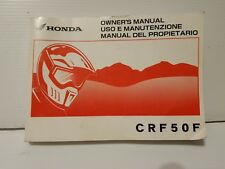 HONDA CRF50F 2010 Owners Manual Operators Book Genuine CRF50 37GEL670 Motorbike