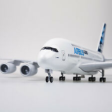 1-160 Airbus airplane A380 model with landing gear and voice-activated lights R)