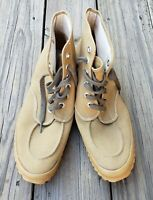 Vtg 40s 50s LL BEAN Canvas Shoes sz 11R Hunting Creepers Boots Workwear USA