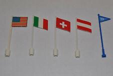 Lego Flagge Schweiz Italien Österreich USA 777p13 777p08 777p06 3596pb04