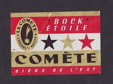 Ancienne étiquette Bière France BN31745 Alcool Brasserie  La Comète