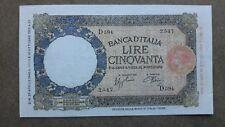 50 LIRE LUPA CAPITOLINA FASCIO TESTINA MARGINE LARGO NATURAL 29/4/1940 ROMA bb+
