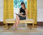 FIRST LADY MELANIA TRUMP READING IN THE WHITE HOUSE EAST ROOM 8X10 PHOTO (BT354)