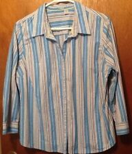 striped womens Fitted XL blouse top