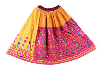 Indien Femmes Taille Patineuse Hippie Jupe Coton Long Rabari Kutch Brodé