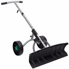 Snow Shovel Removal Blade Wheels Plow Adjustable Pusher Walk behind plower