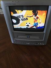 """Portable Toshiba MD9DM1R  9"""" CRT Color TV  Built-in DVD Player AC DC"""