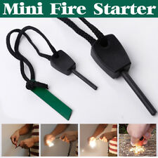 Camping Survival Magnesium Flint And Steel Striker Fire Starter Lighter Stick UK