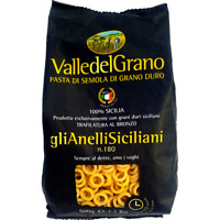 ANELLINI SICILIANI - PASTA DI GRANO DURO 100 % SICILIANO VALLE DEL GRANO 500 G