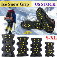 Anti Slip Ice Snow Grips Spikes Studs Crampon Cleats Boot Shoes Cover Overshoes