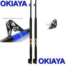 "Okiaya Composit""The Mack Daddy"" 30-80Lb Saltwater Big Game Roller Rod Set of 2"