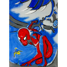 Philippe LE MIERE Spiderman Homecoming marvel kids original signed painting art