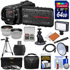 JVC Everio GZ-R440 Quad Proof Full HD Digital Video Camera Camcorder Kit Black
