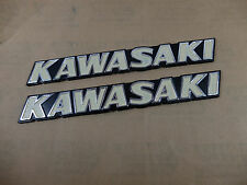 Kawasaki KH250 KH400 GPZ1100 GT550 GT750 Fuel Gas Tank Emblem Badges Decals Pair