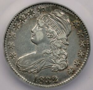 1832-P 1832 Capped Bust Half Dollar ICG AU50 Details 0-118