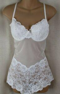 Victoria's Secret Off White Teddy/Basque/Bodysuit Size 38 C
