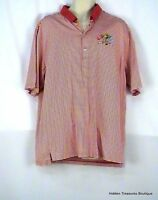 Fairway & Greene Men's Golf Polo SS Shirt Red and White Striped Size XLarge