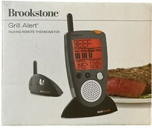 Brookstone Grill Alert Talking Remote Meat Thermometer - Open box.