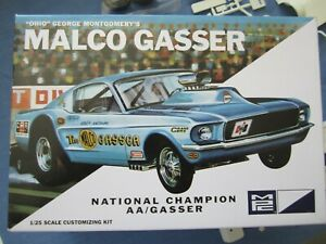 1/25 scale 67 Ford Mustang gasser by MPC. Complete in box.