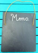 Novelty Slate Memo Board, Wall Hanging.
