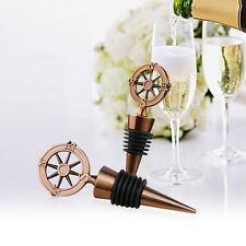 Metal Compass Wine Bottle Stopper Wedding Favors and Gifts Souvenirs For Guests