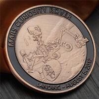 US American MARS CURIOSITY ROVER NASA SPACE LANDING TOKEN COIN Collectible