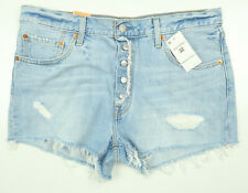 6323ccd2e740 Levi's 501 North Beach Noise Cutoff Denim Jean Shorts Vintage Wash Waist 29