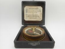 Old Brass And Copper Surveyor'S Dipping Compass Or Inclinometer W Original Case