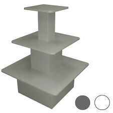 Tavolo espositivo multilivello per arredo negozio disponibile bianco o grigio