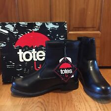 Mens Totes Isotoner Dave Black Winter Snow Rain Waterproof Thermolite Boots 12 M