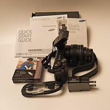 Samsung NX2000 20.3MP Digital Camera + 20-50mm Lens + Flash + Vivitar Len Filter
