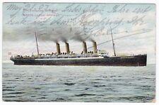 Schiff Kronprinz Wilhelm lloyd Bremen New York 1907 AK Smith Postcard (A1924)