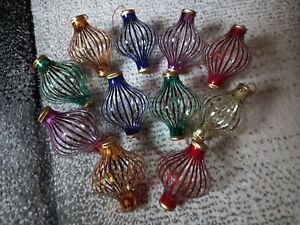 11 Stück Lauscha DDR Fadenkugeln Weihnachtskugeln Christbaumschmuck