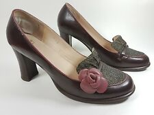 Shellys London leather fabric high heel shoes uk 7