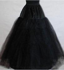 Schwarz Neu kein ringe 3 Schicht petticoat Unterrock Hochzeit Krinoline Reifrock