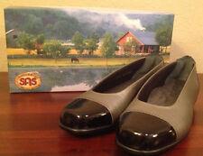 NIB $153 SAS COCO-M Graphite Gray/Black Flats TRIPAD COMFORT Shoes Womens 8 N