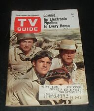 Lqqk vintage 1967 Tv Guide featuring The Rat Patrop Stars cover